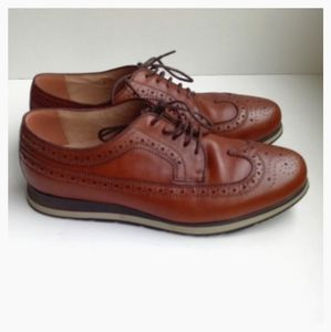 Florsheim Men US 9 Leather Brogue Wingtip Oxfords